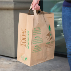 The Paper Bags Sold By S Would Have Be Composed Of 40 To 100 Percent Recycled Material And Contain Words Reusable Recyclable In A Highly