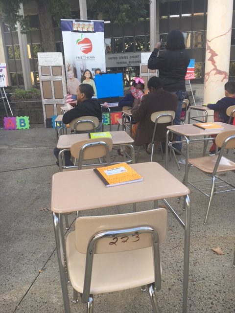 Empty School Desks Find Their Way to Federal Court in Lawsuit Over Racial Quotas