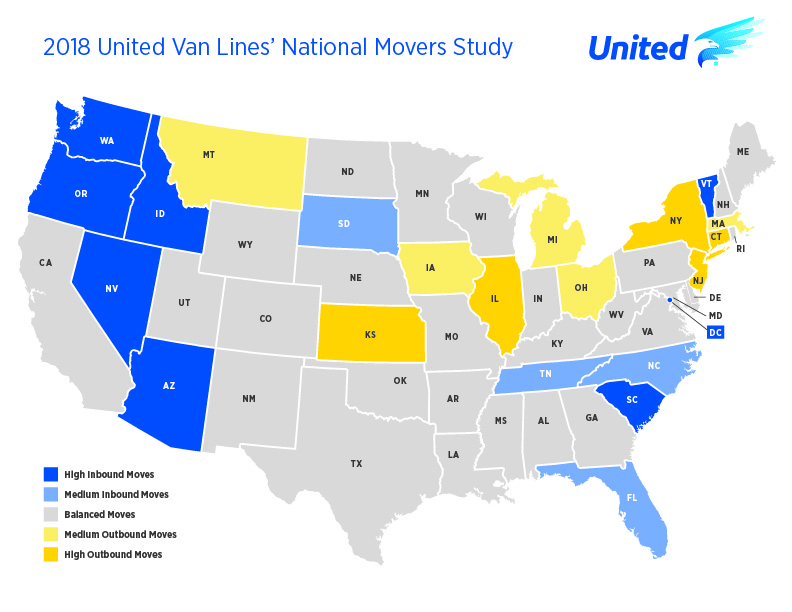 Connecticut Ranks 3rd in Country for People Moving Out